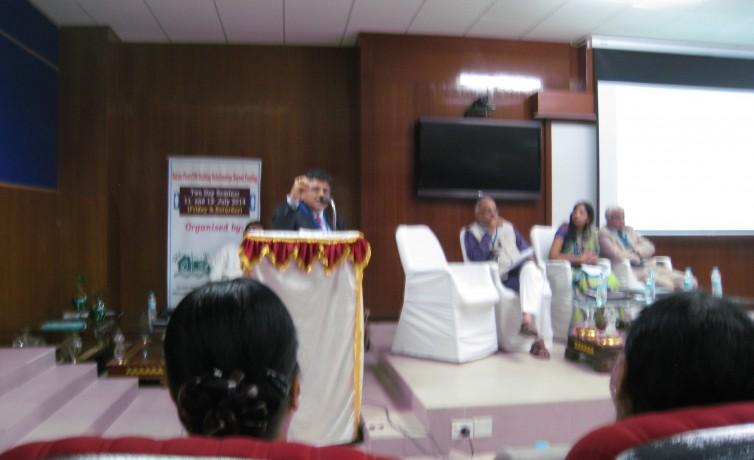 Pranav Desai speaking at CSR workshop at Indian Institute of Sciences, Bangalore, India