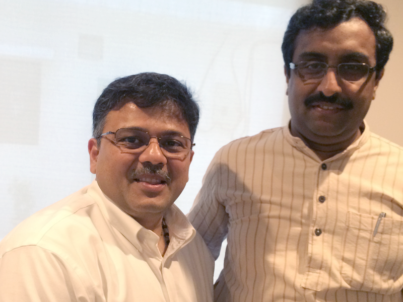 Pranav Desai with Shri Ram Madhav ji, Vice President and General Secretary, BJP