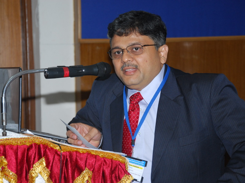 Pranav Desai speaking at CSR Workshop at IISc, Bangalore
