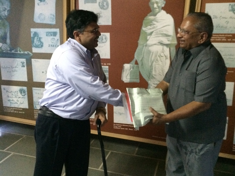 Pranav with Chairman of Wagh Bakri Tea Group