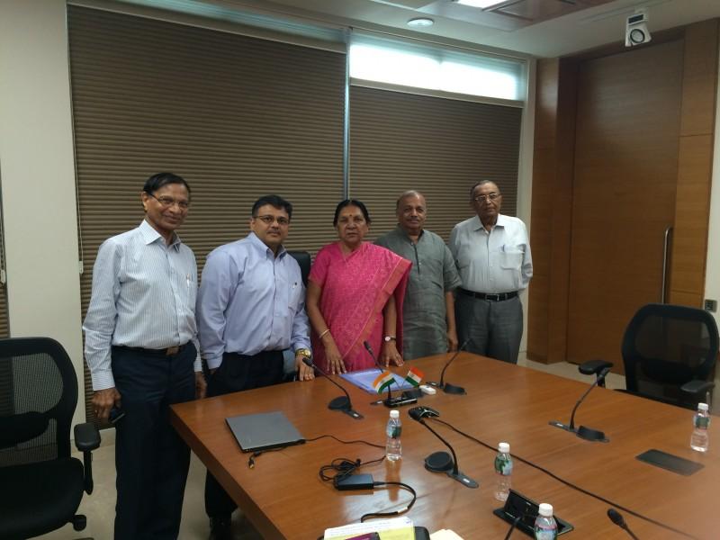 Voice of SAP team with CM of Gujarat Smt Anandiben Patel