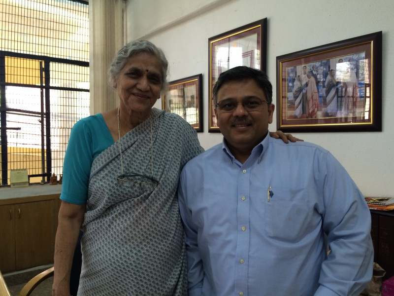 Pranav with Smt Uma Tuli ji, Founder of Amar Jyoti