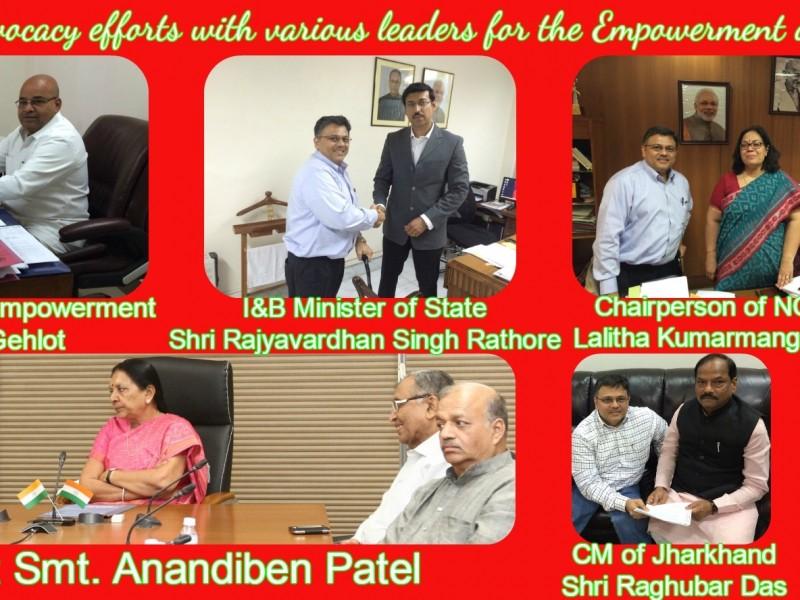 Key Meetings during Apr 2015 trip to Bharat