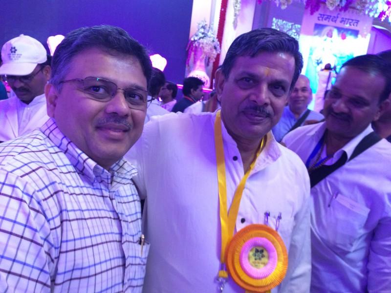 Pranav with Man Shri Dattatreya ji