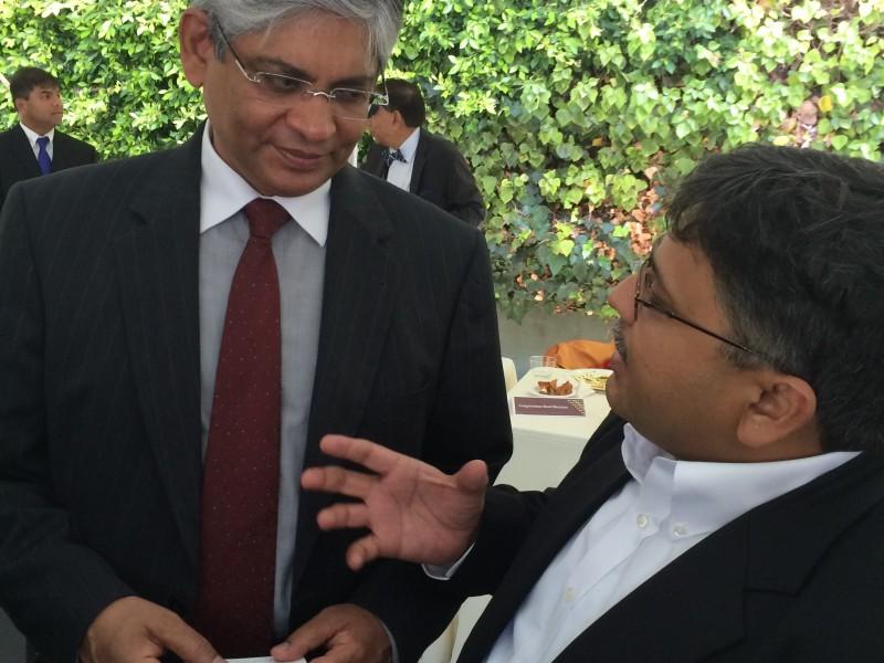 With Ambassador to the US Shri Arun Singh