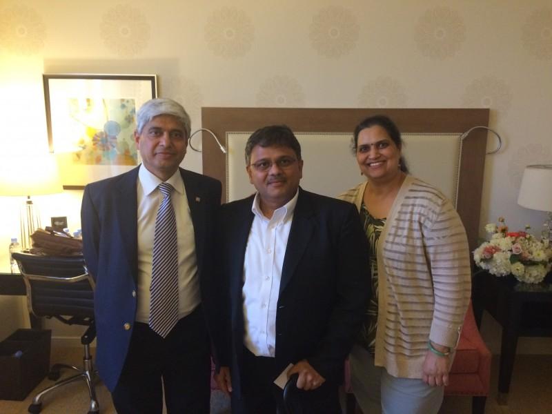 With Shri Vikas Swarup, Spokeperson, Ministry of External Affairs