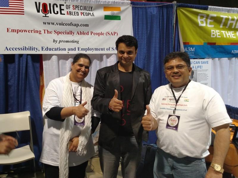 Devang Patel at VoSAP Booth in LA, USA