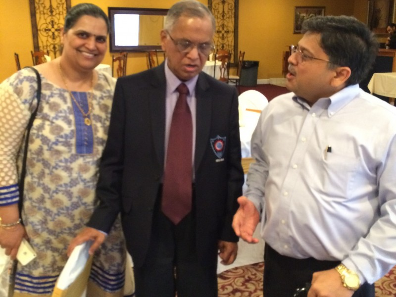 VoSAP founders with Ex- Infosys Chairman Shri Murthy ji in USA
