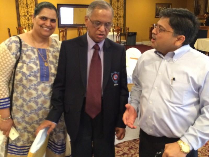 VoSAP founders with Ex- Infosys Chairman Shri Murthy ji in USA