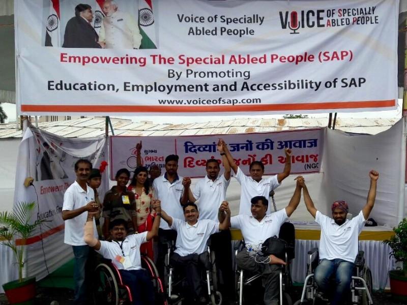 VoSAP booth at Modi ji's birthday celebrations at Navsari, Gujarat