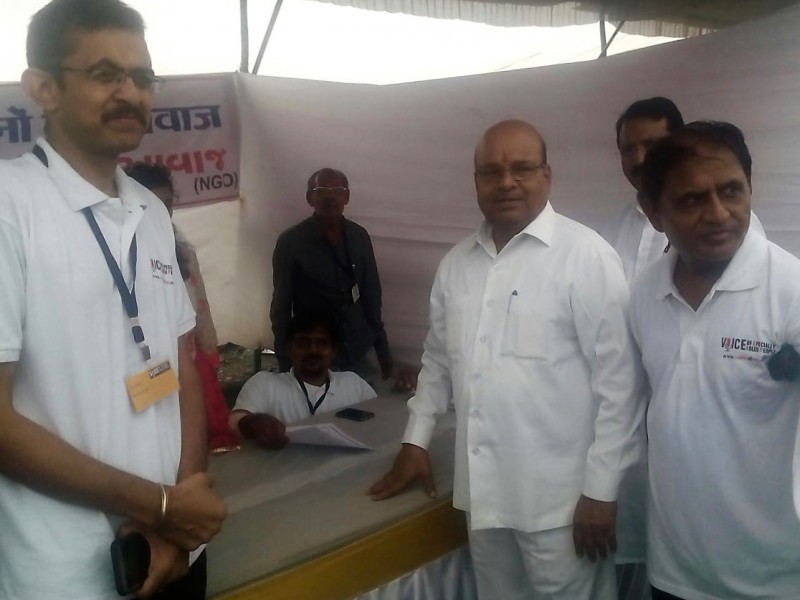 H'ble Cabinet Minister Gehlot ji at VoSAP booth in Navsari, India