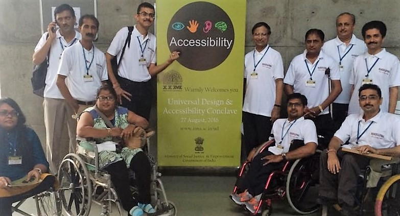VoSAP team at IIM, Ahmedabad for Accessibility Conclave