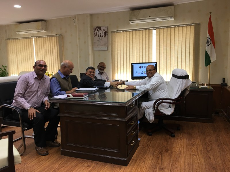 VoSAP Founder with Cabinet Minister, MSJE, GoI, Shri Gehlot ji and team