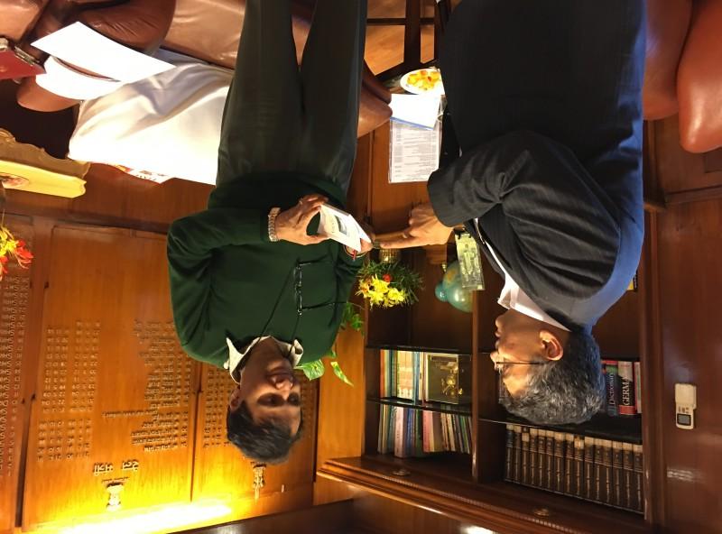 VoSAP Founder meets H'ble Minister, Railways, Shri Suresh Prabhu ji