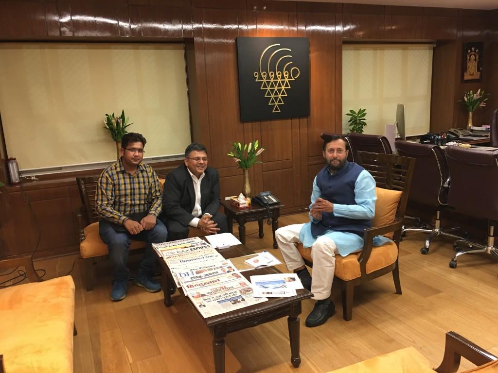 VoSAP Founder team meets H'ble Minister of HRD, Shri Javadekar ji