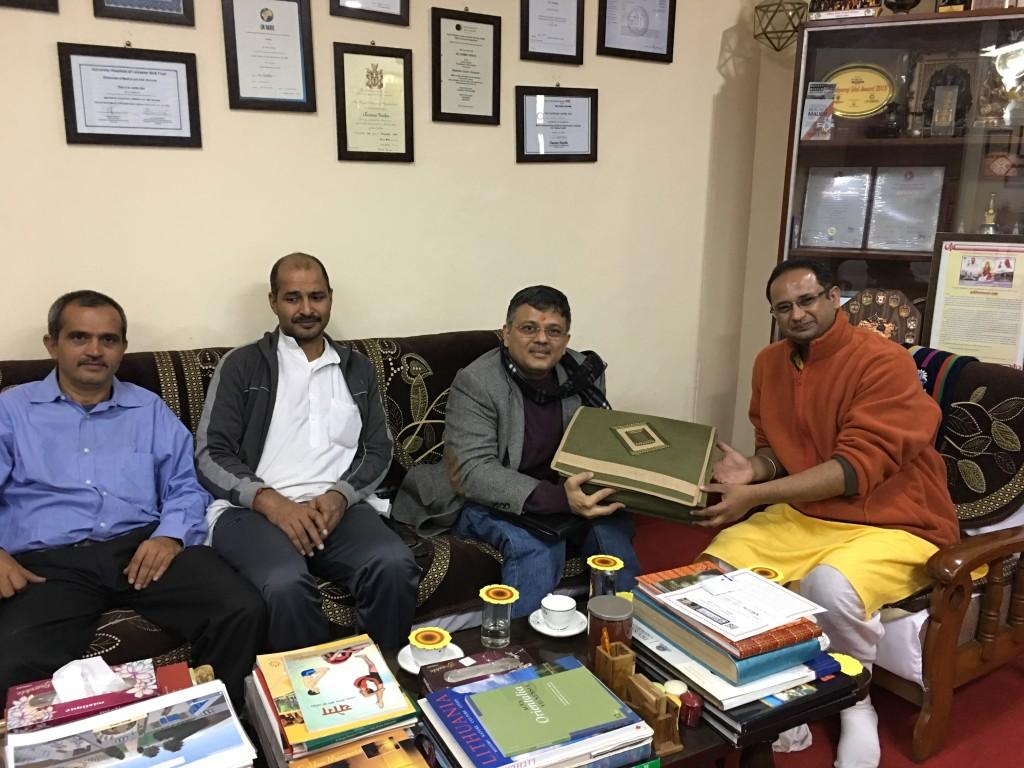 VoSAP Team meets Dr Chinmay Pandya, Gayatri Pariwar