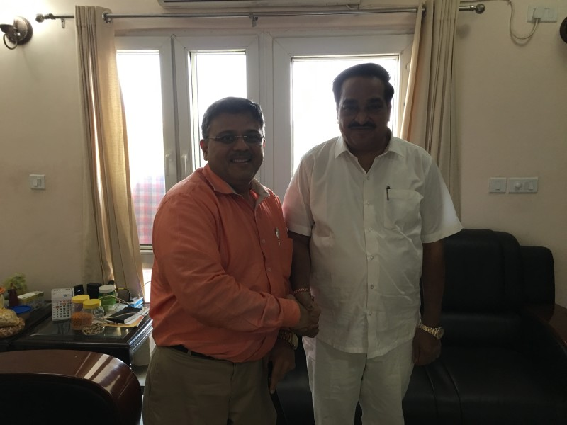 VoSAP Team meets H'ble MP, NAvsari, Shri C R Patil ji