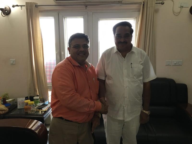 VoSAP Team meets H'ble MP, NAvsari, Shri C R Patil ji