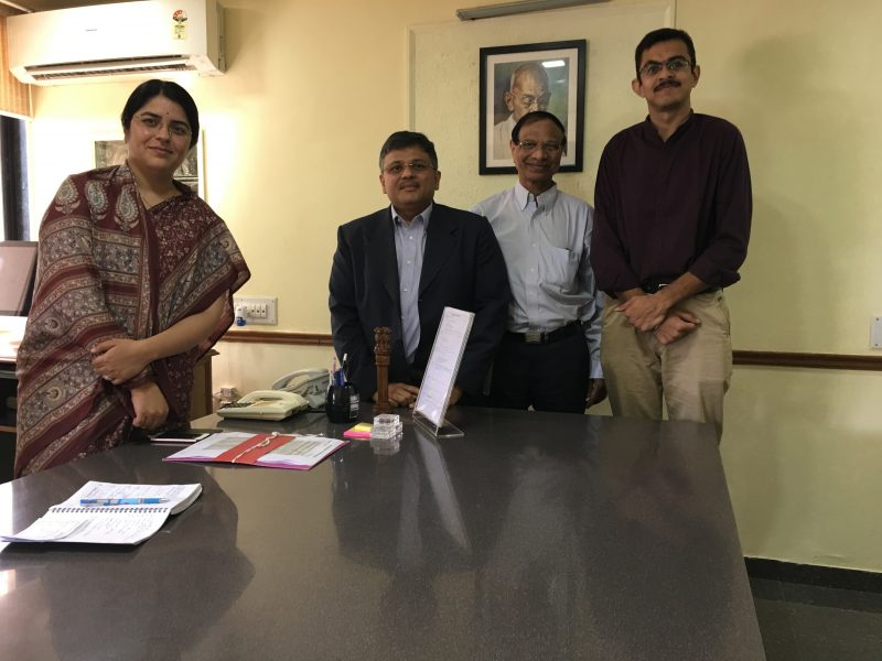 VoSAP Team meets Collector, Ahmedabad, Ms Avantika ji