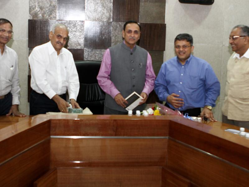 VoSAP Team with H'ble CM, Gujarat, Shri Vijay Rupani ji