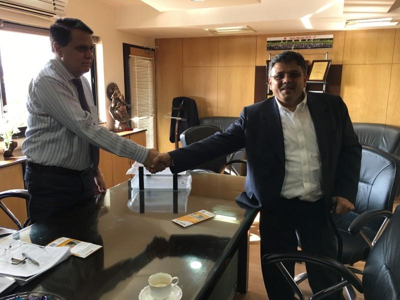 VoSAP Founder with Zonal Manager, BoB, Shri Sharmasaheb