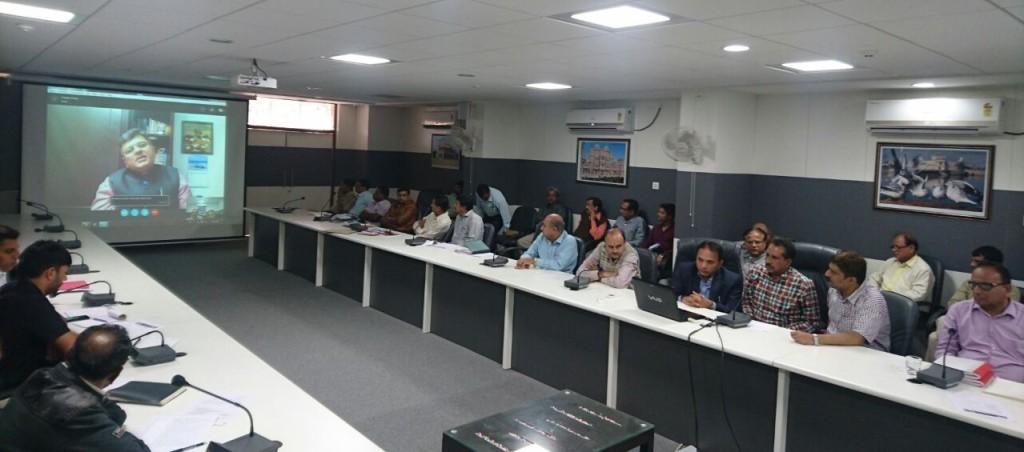 Skype Meeting with District Administration team of Jamnagar, Gujarat