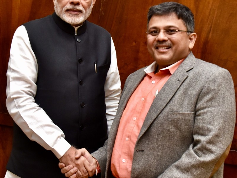 VoSAP Founder with H'ble PM of India – Nov 2016