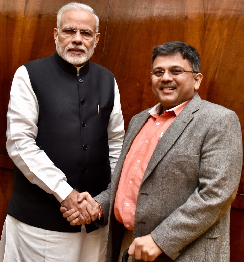 Pranav with Modi ji 2016