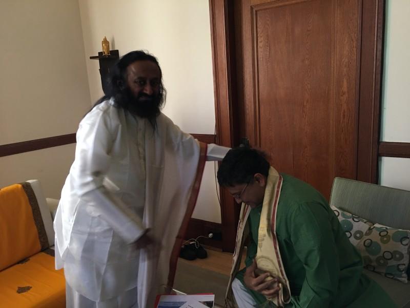 Sri Sri Ravi Shankar ji blessing Mission VoSAP