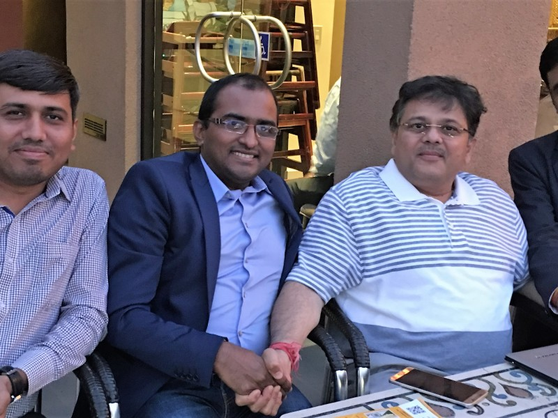 Pranav with Chintan Shah and Brainvire Team, Tech partners
