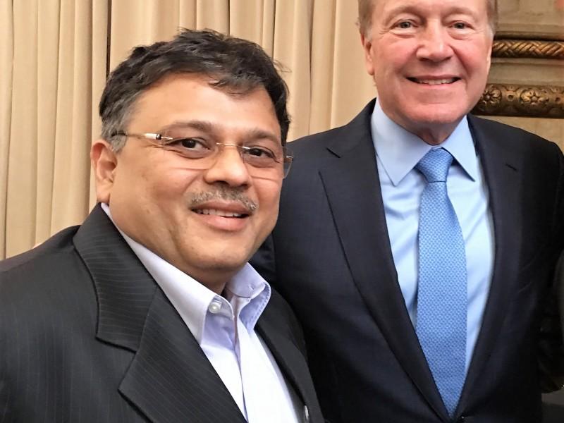 Pranav Desai with John Chambers, Executive Chairman, Cisco