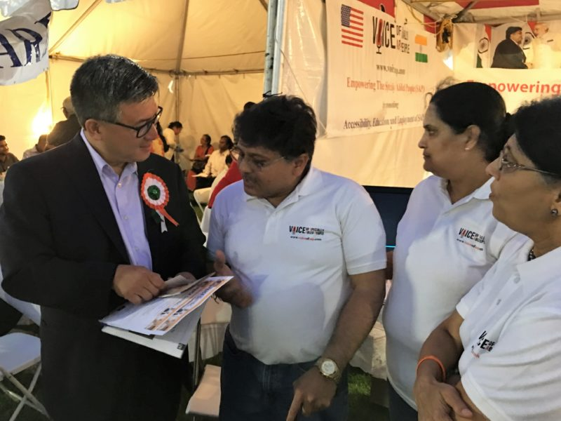 California State Treasurer (John Chiang) at VoSAP Booth, India's Independence Day