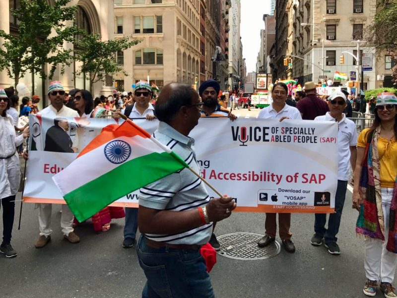 VoSAPians walking in New York, India's 71st Independence Day Parade