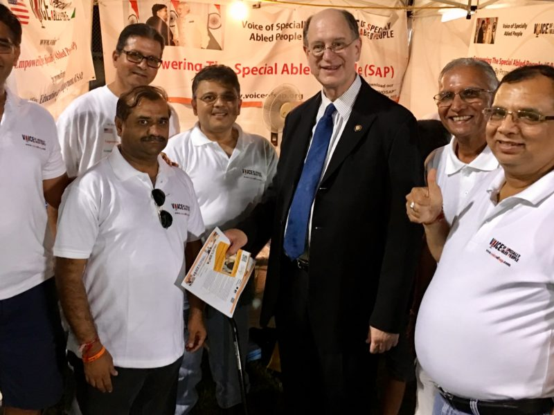 Congressman Brad Sherman at VoSAP Booth, India's Independence Day Los Angeles