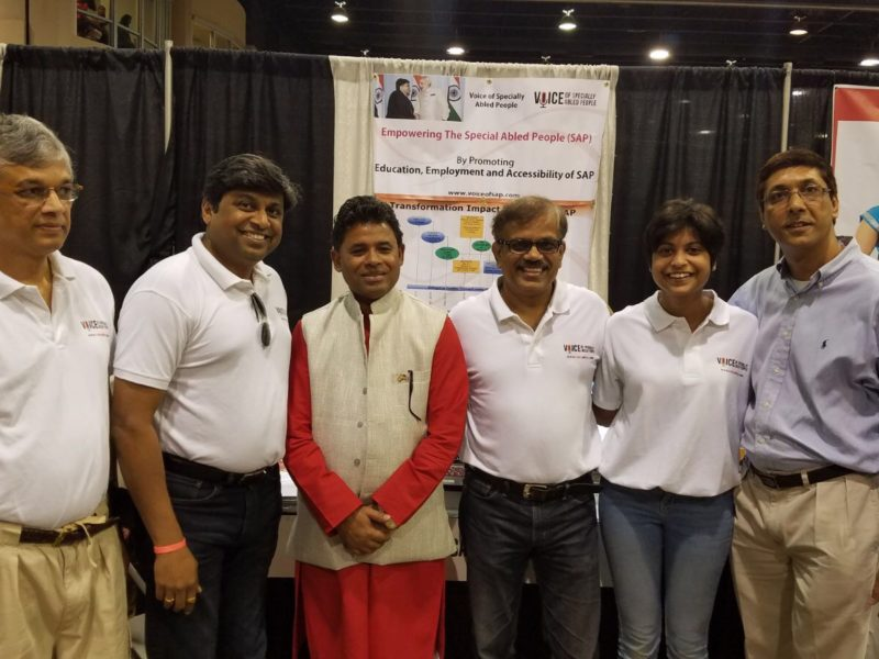 Consul of India, Atlanta at VoSAP booth, India's Independence Day Celebrations