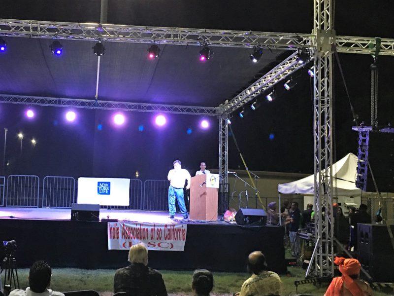 Pranav Desai inspiring NRIs in LA on Independence Day celebrations