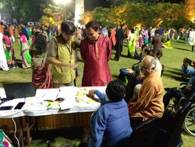 VoSAP Booth at famous LAA Garba, Ahmedabad
