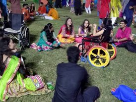 VoSAP Promoting Inclusive Garba  at LAA, Ahmedabad