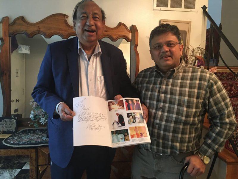 Pranav with Dr Banik Sambhu, veteran in Disabilities Rights, US Administration