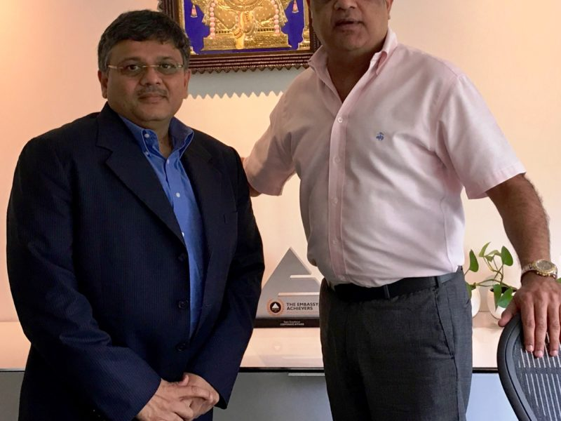VoSAP's corporate initiative Endorsed by Rajesh Bajaj, Director, Embassy Group