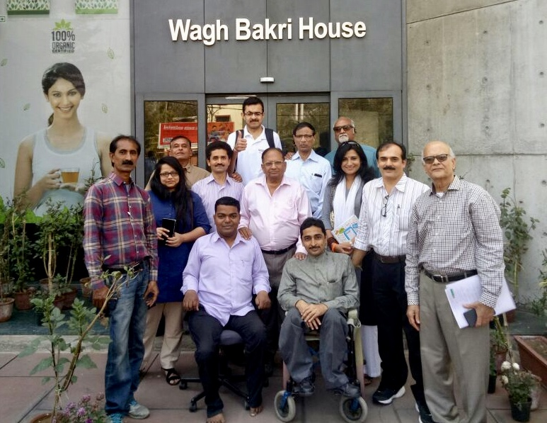 Shri Piyushbhai, Chairman of Waghbakri Tea Donates to VoSAP