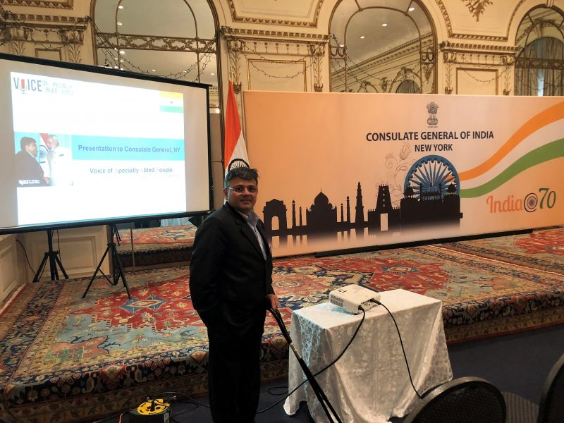 Pranav Desai presenting VoSAP and Collaborative initiatives with CGNY