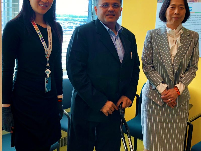 Mission VoSAP at UN with Chief of Disabilities Dr Akiko and Sae (officer)