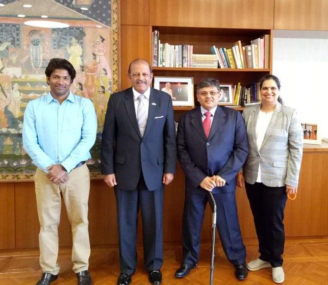 VoSAP team with H.E. Ambassador Shri Chinoy, Tokyo, Japan