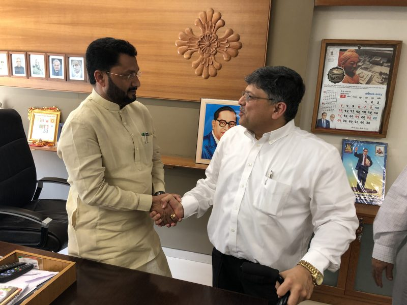 Meeting with Shri Ishwarbhai – Hon Minister of Disability, Gujarat