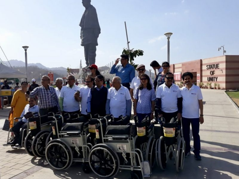 VOSAP Team Donates 25 Wheelchairs at Statue of Unity