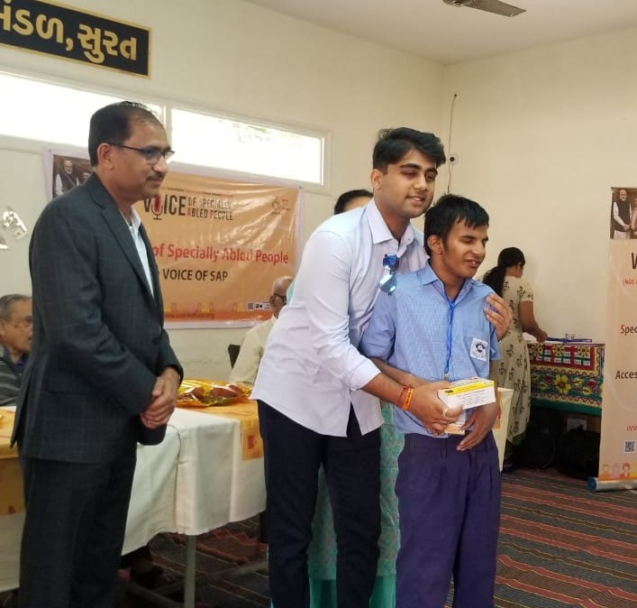 VOSAP provides Assistive Devices to 50 SAP students of tribal India (Click for Photos)