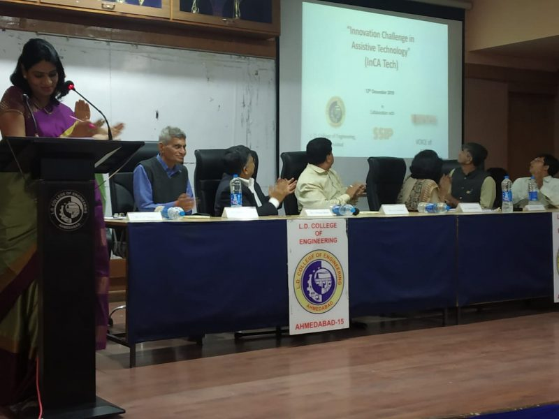 VOSAP & LD Engg College launched Innovation Challenge in Assistive Tech (Click for Photos)
