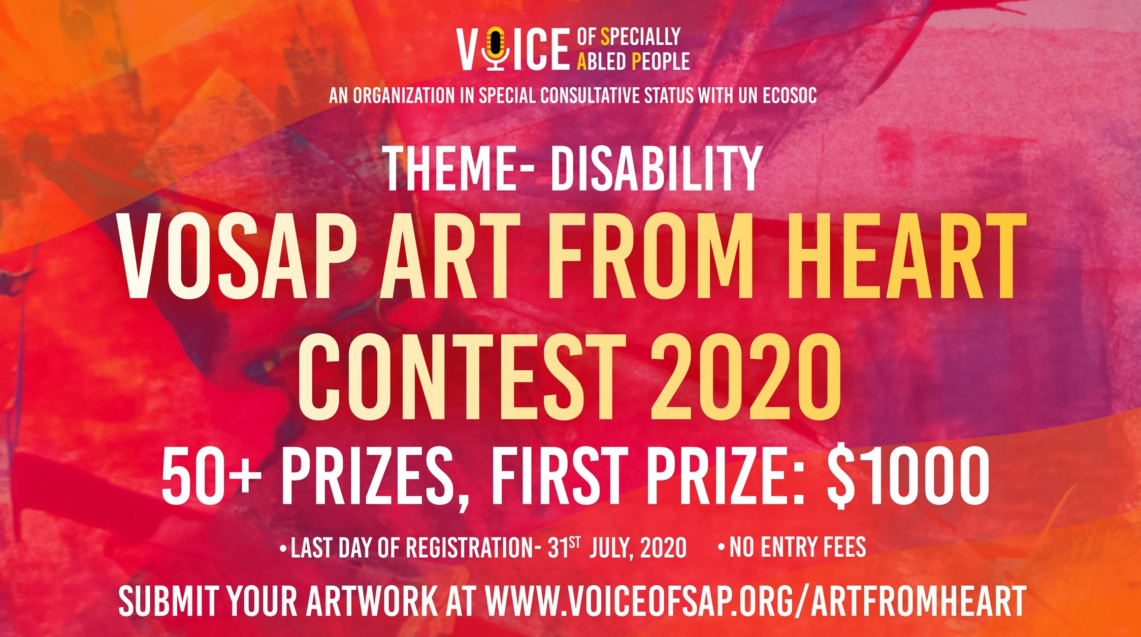VOSAP Art from Heart Contest 2020