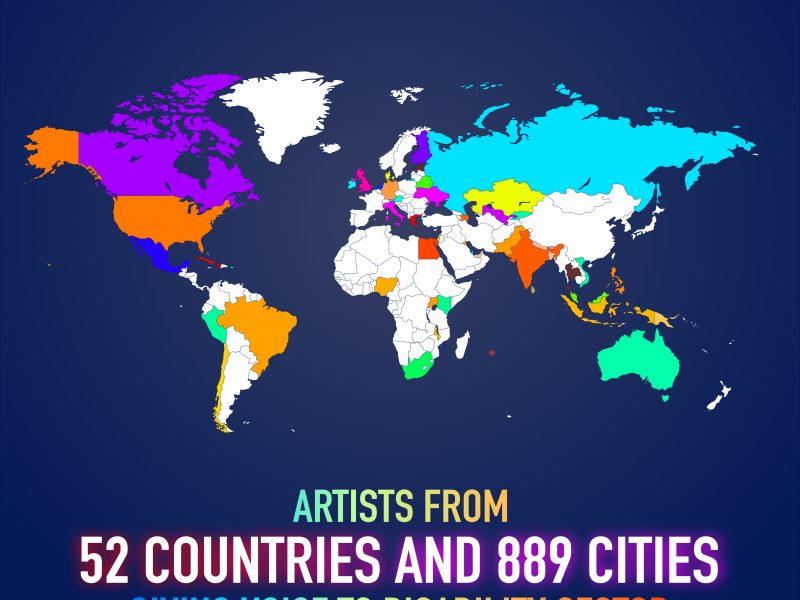 Participation in VOSAP Art from Heart – Artists from 52 countries, 889 cities